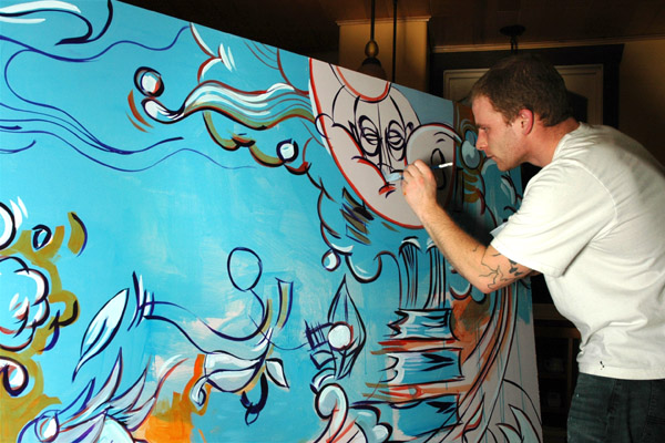 dave oram painting acrylic mural
